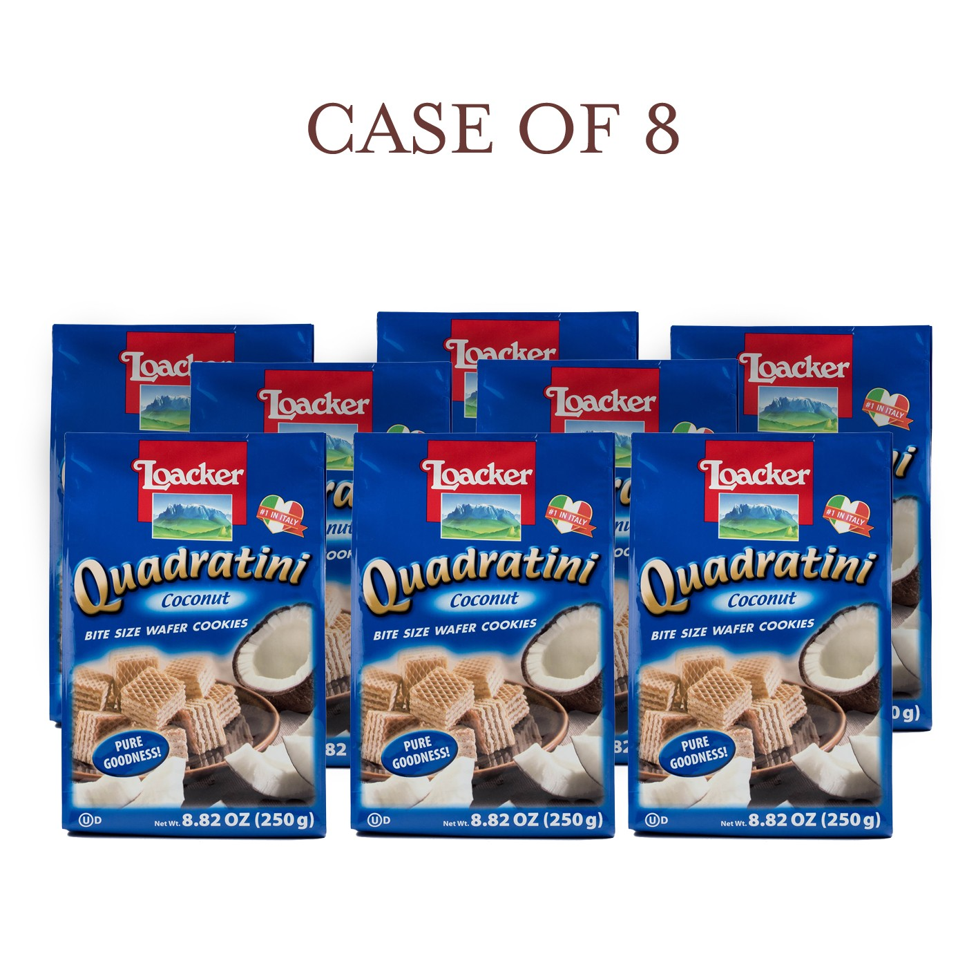 Coconut Quadratini - Case of 8
