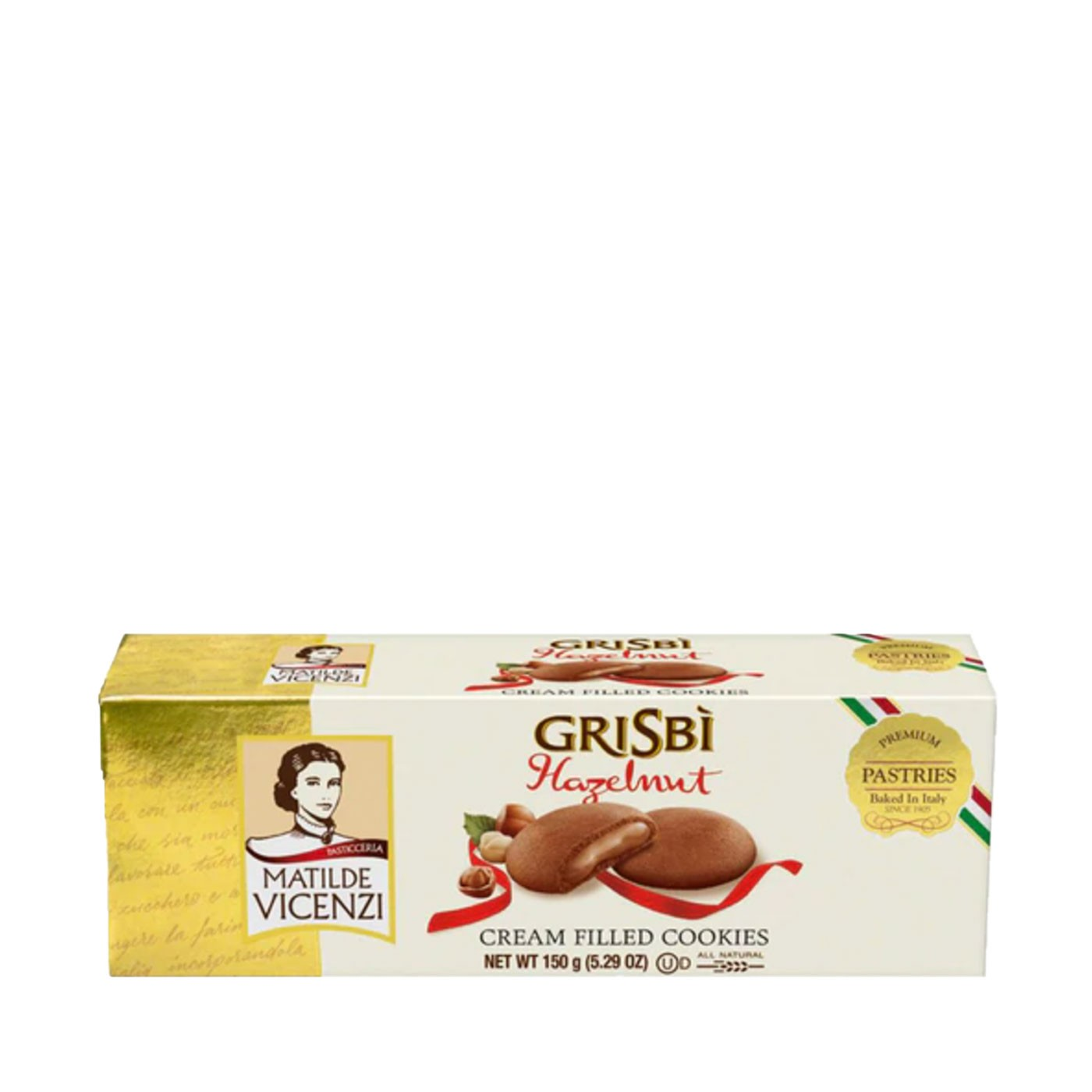 Grisbì Hazelnut Cream-Filled Cookies 5.3oz