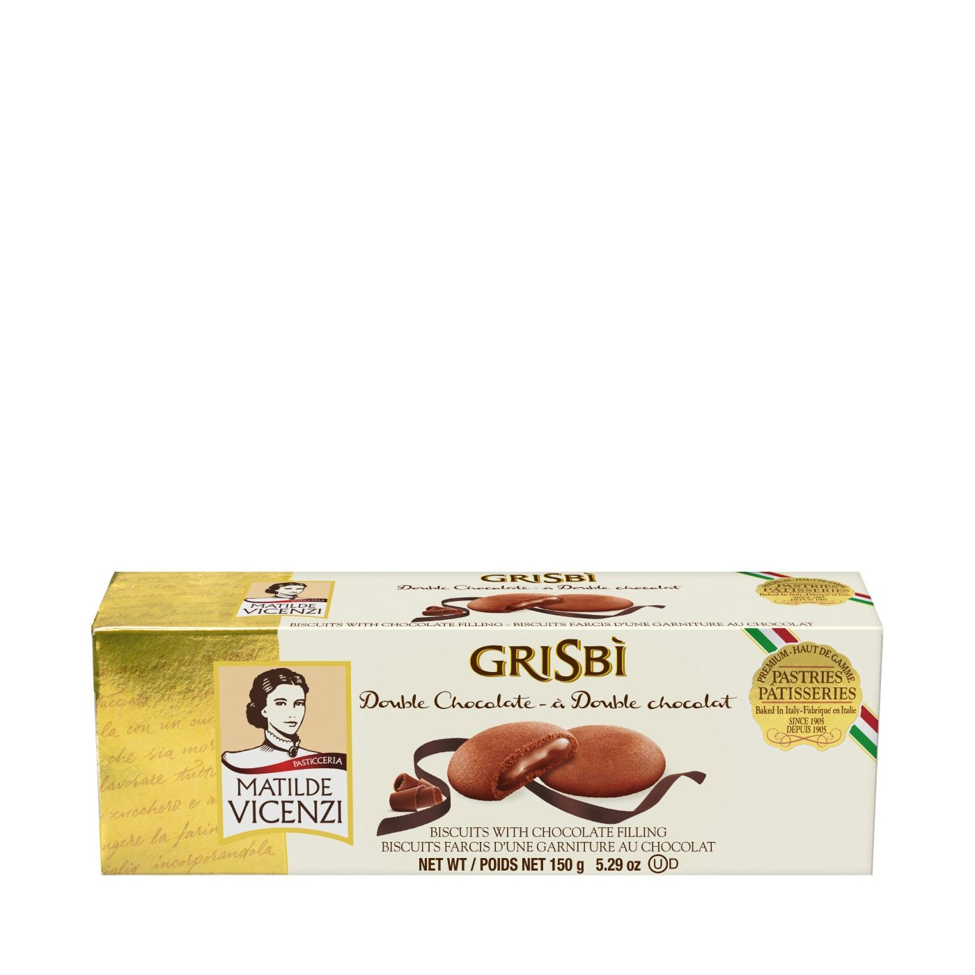 Grisbì Chocolate Cream-Filled Cookies 5.3oz
