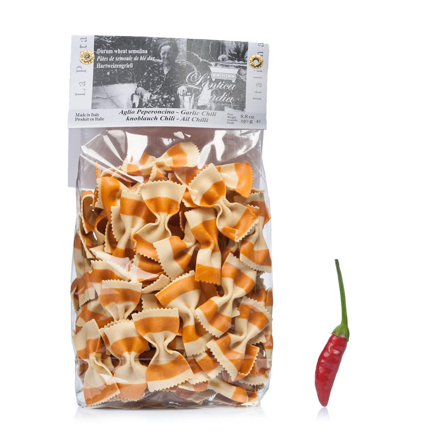 Garlic and Chili Farfalle 8.8 oz - Antica Madia