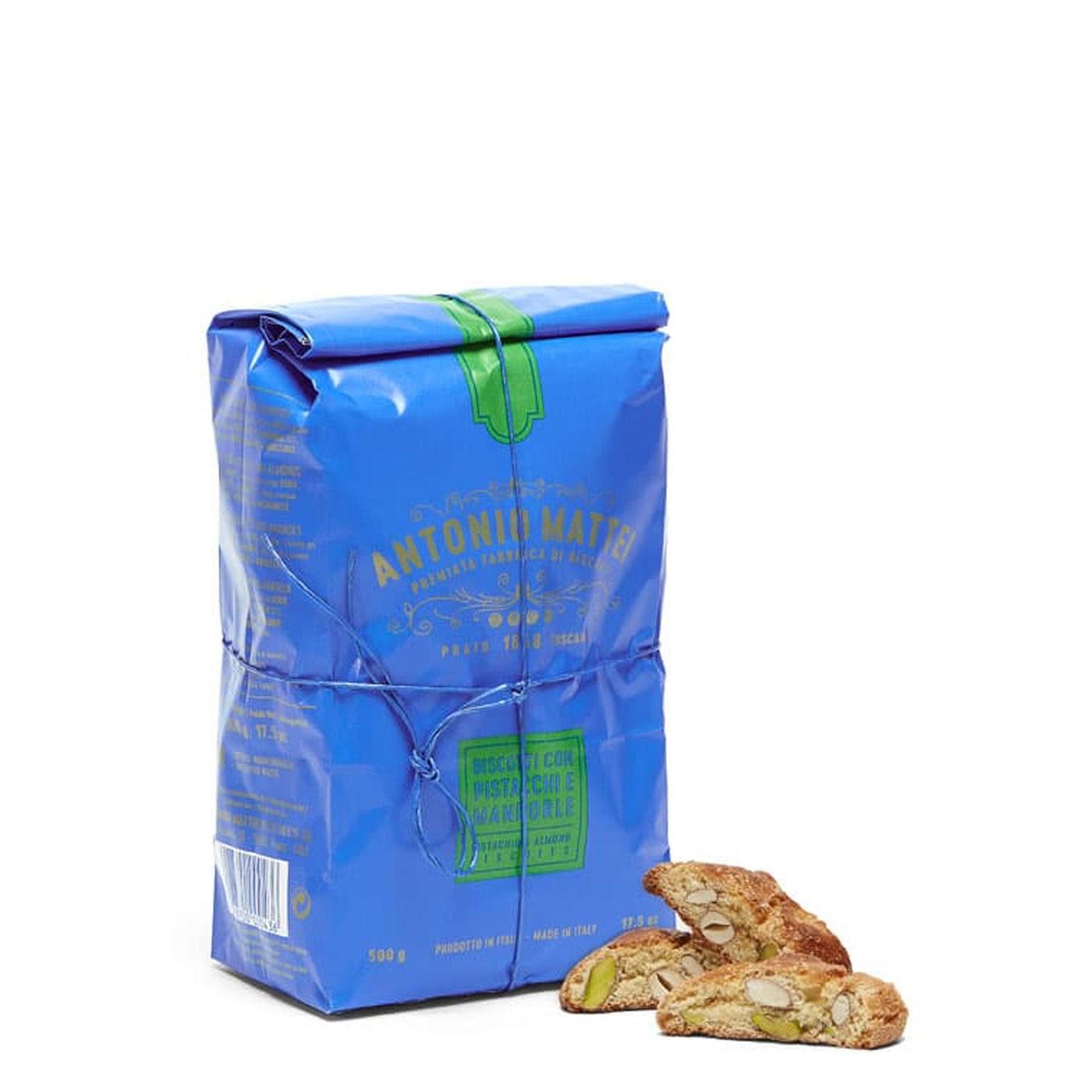 Almond and Pistachio Biscotti di Prato Cookies 8.8 oz