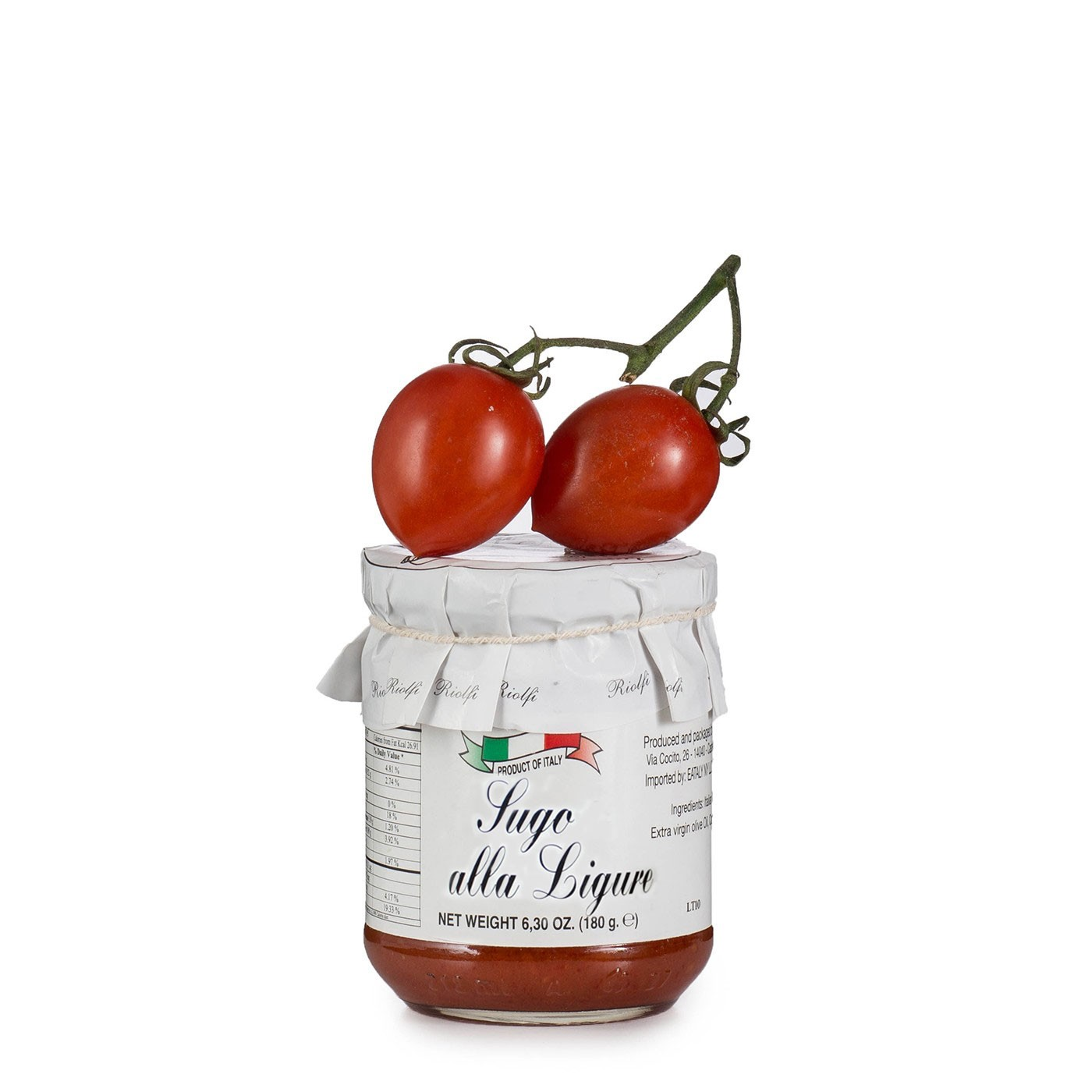 Ligurian Tomato Sauce with Basil 6.3 oz