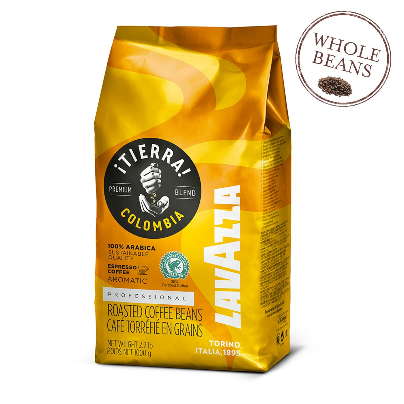 ¡Tierra! Colombia 100% Arabica Whole Beans 35.2 oz