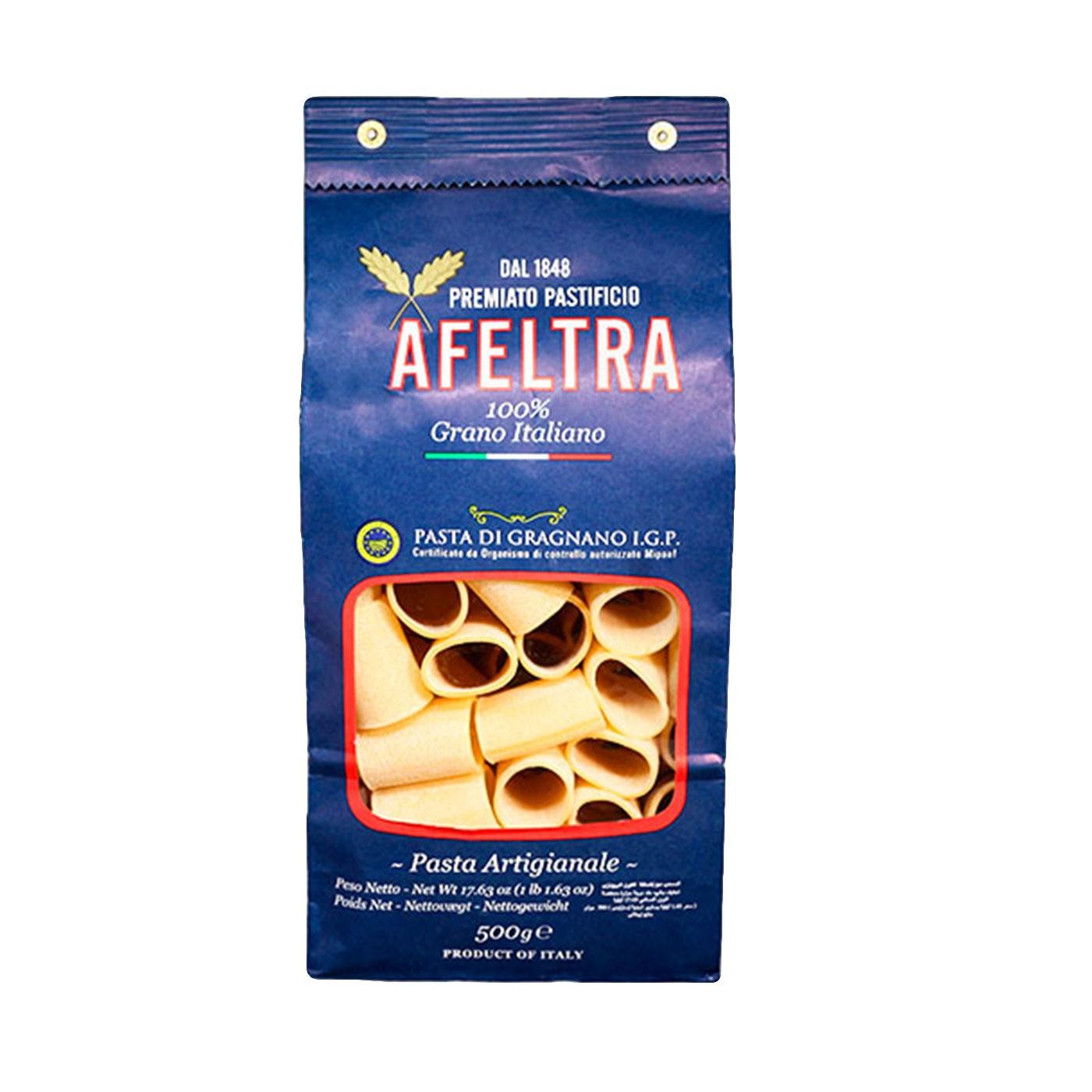 100% Italian Grain Paccheri 17.6 oz - Afeltra