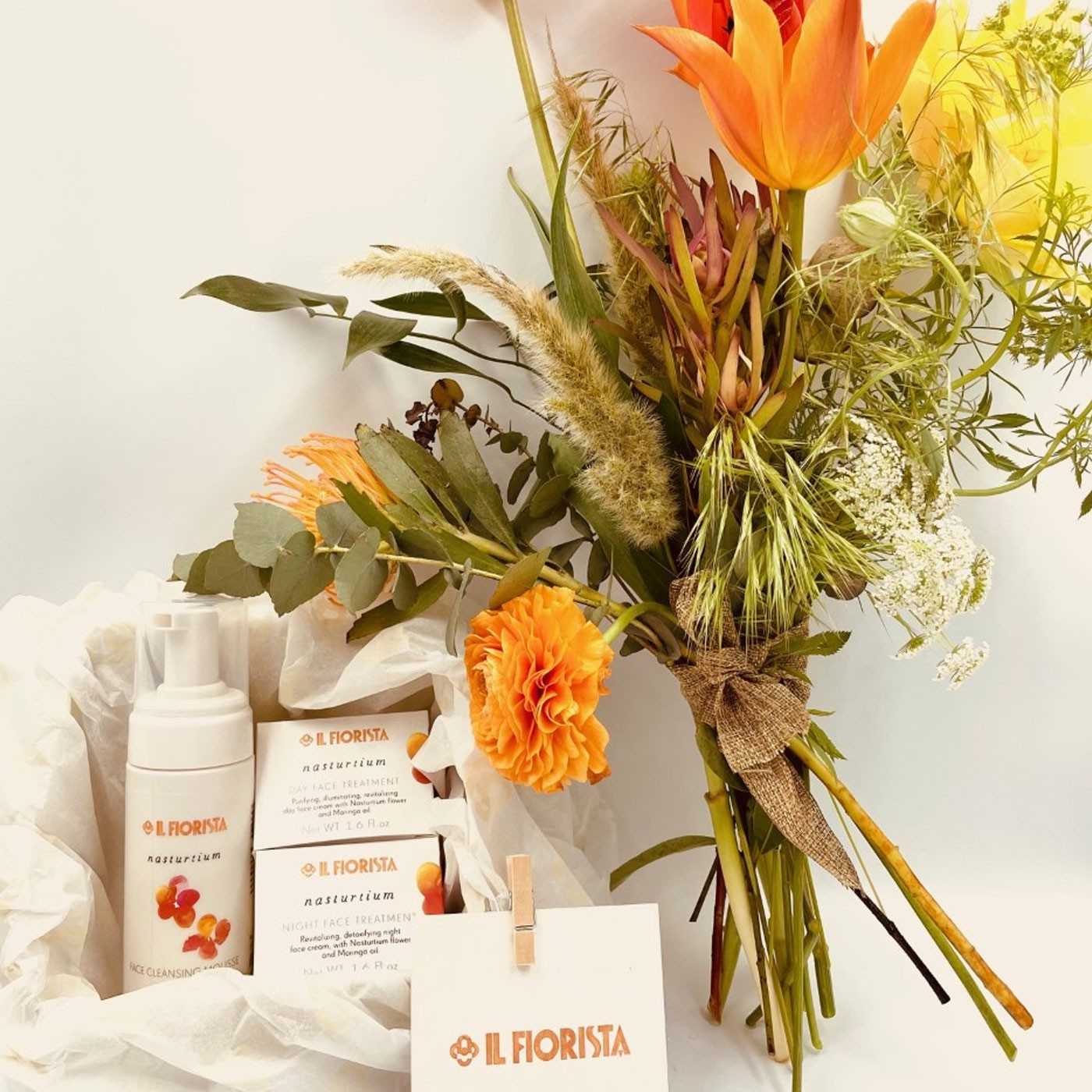 Hand-tied Flower Bouquet - 10 Stems and Beauty Line