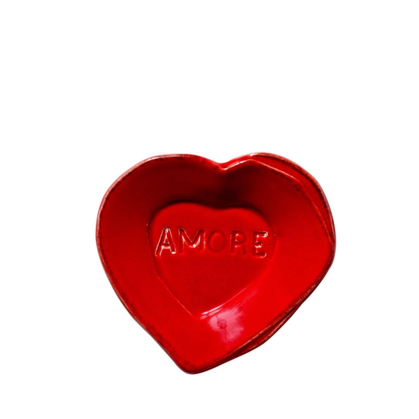 Lastra Red Heart Mini Amore Plate - Vietri   Eataly.com