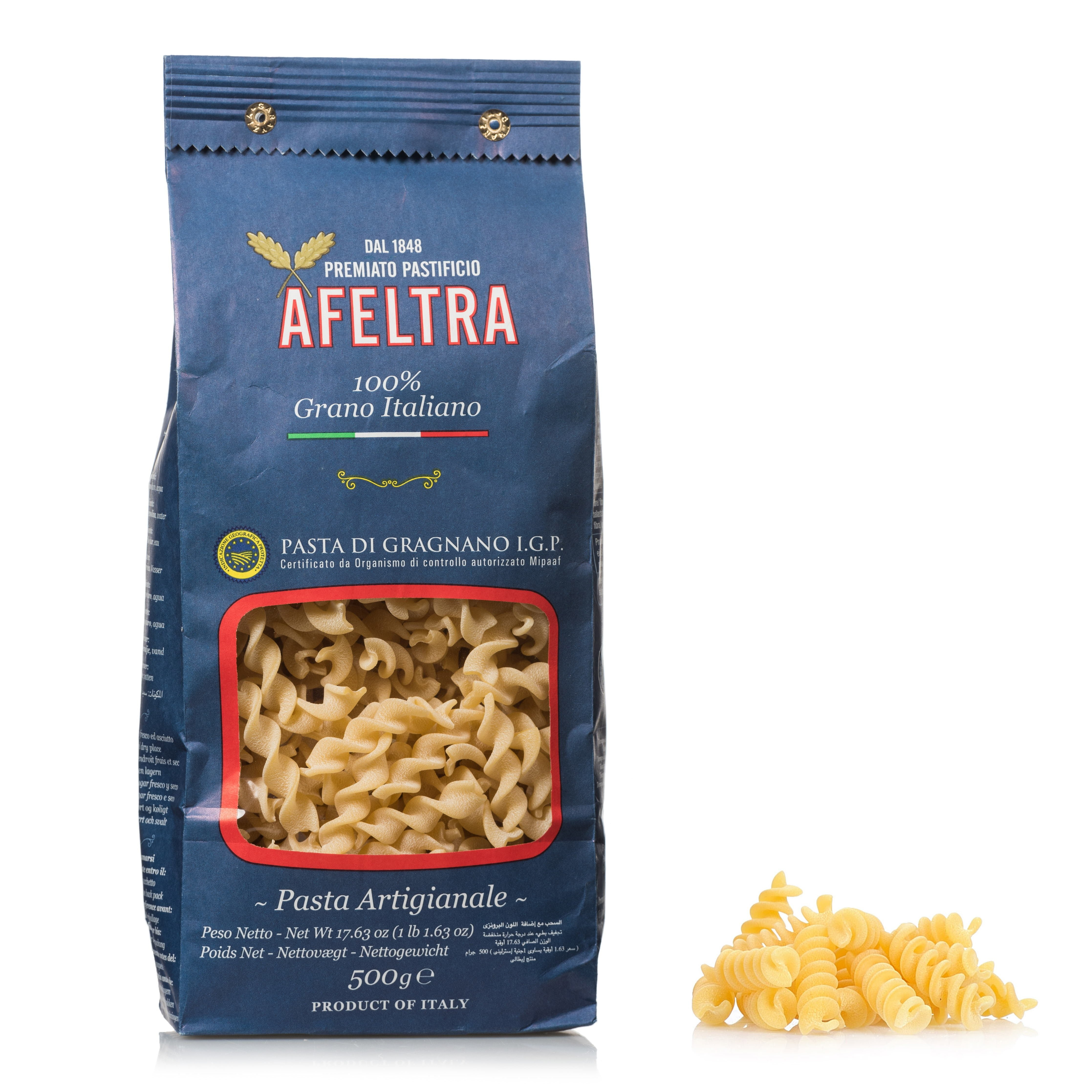100% Italian Grain Tortiglioni 17.6 oz