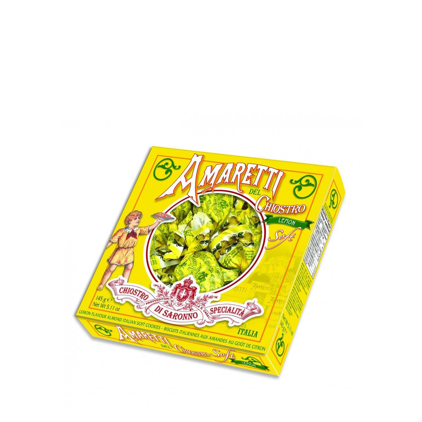 Lemon Amaretti Cookies in Soft Box 5.1 Oz