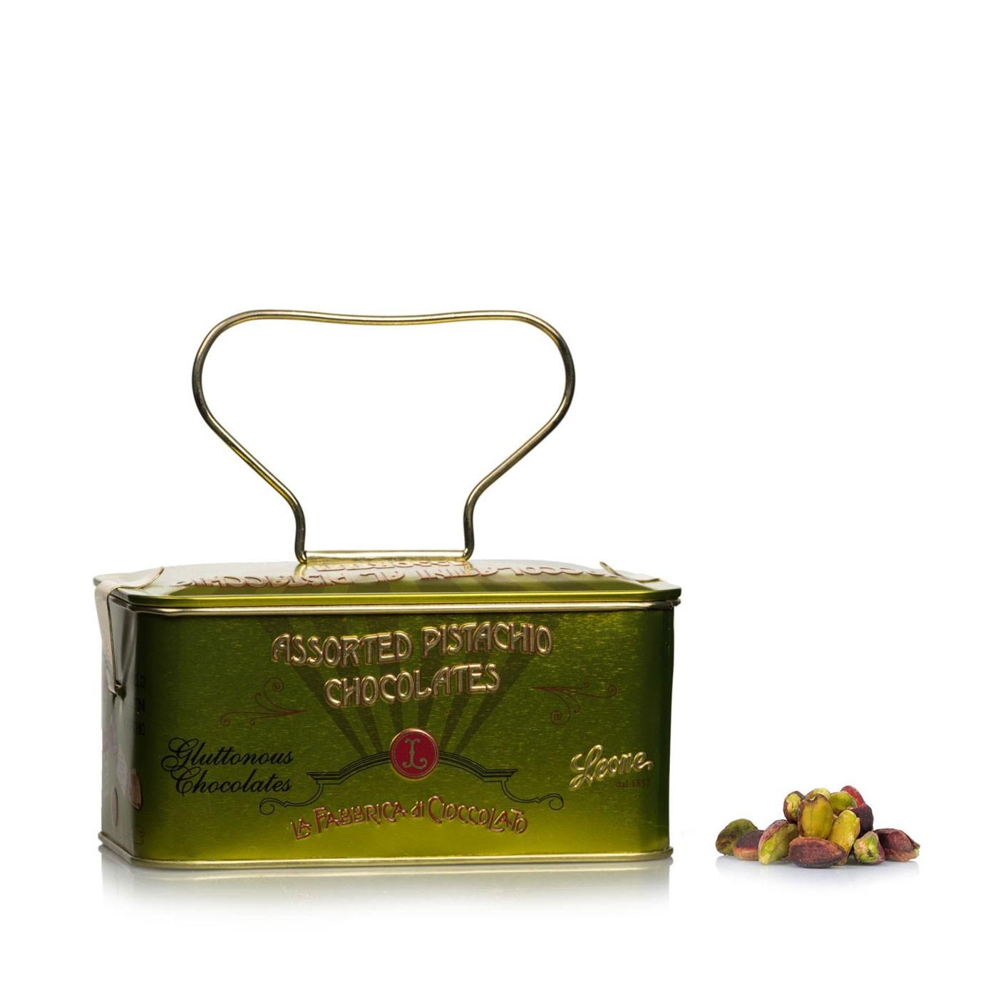 Assorted Pistachios Truffles in Box 5 oz
