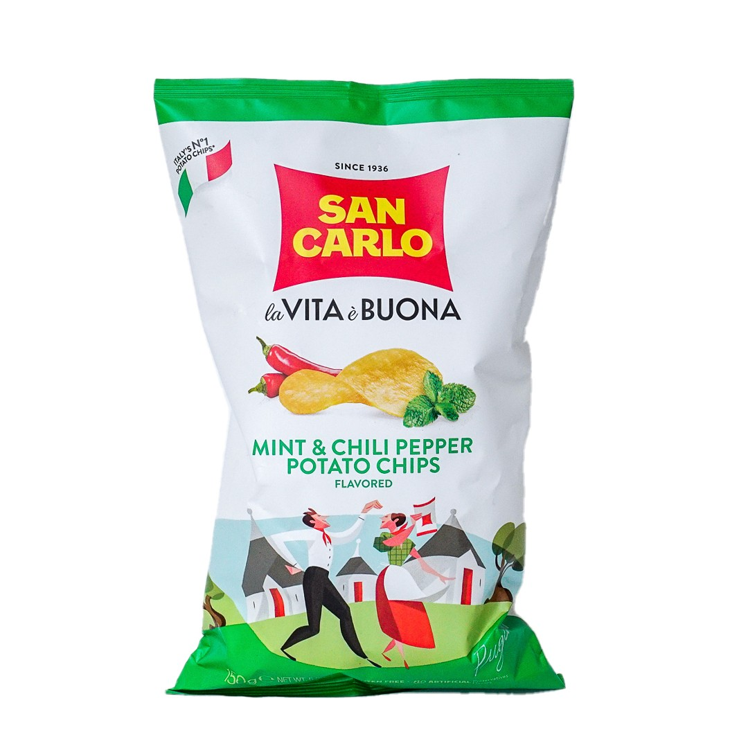 Mint and Chili Flavored Potato Chips 5.3 oz