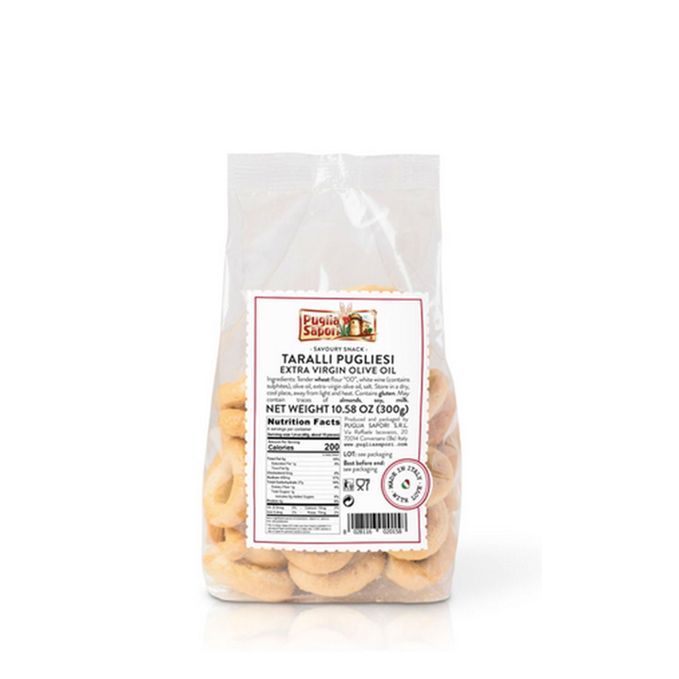 Olive Oil Tarallini Crackers 8.8 oz