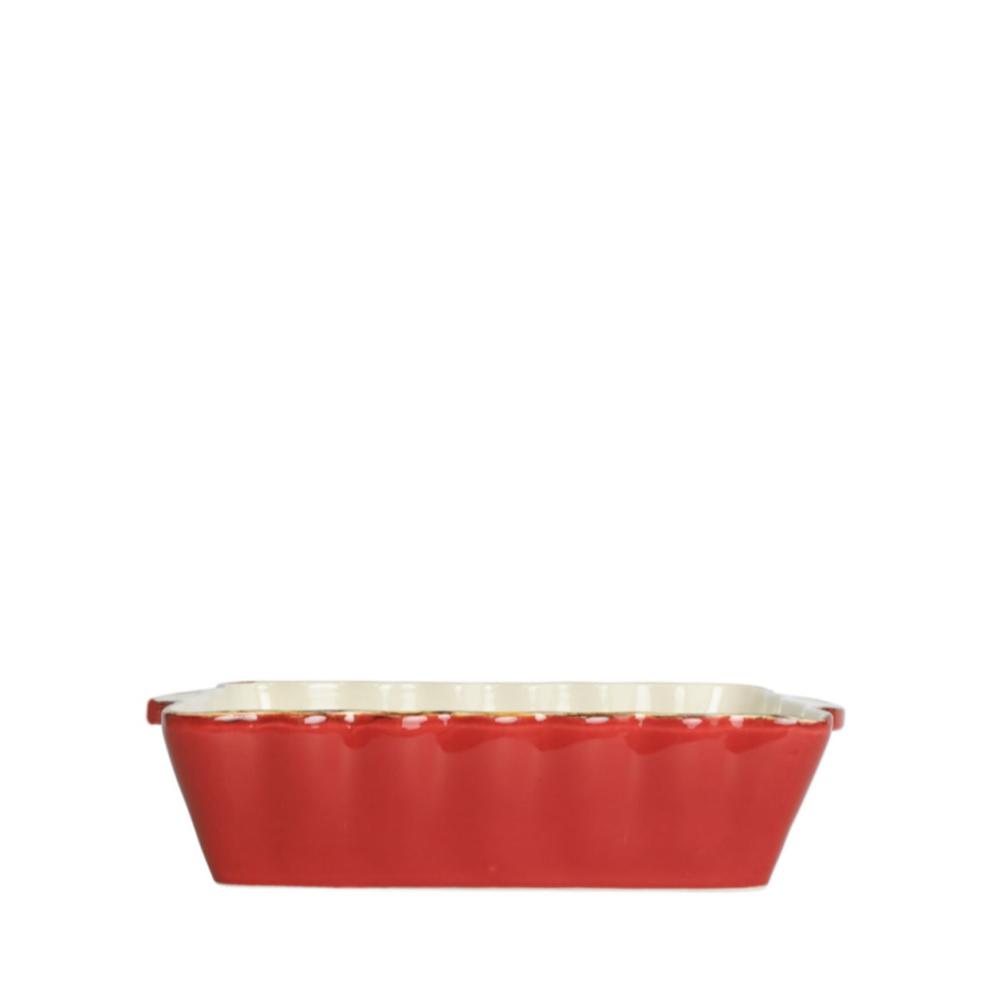 Italian Bakers Red Medium Rectangular Baker