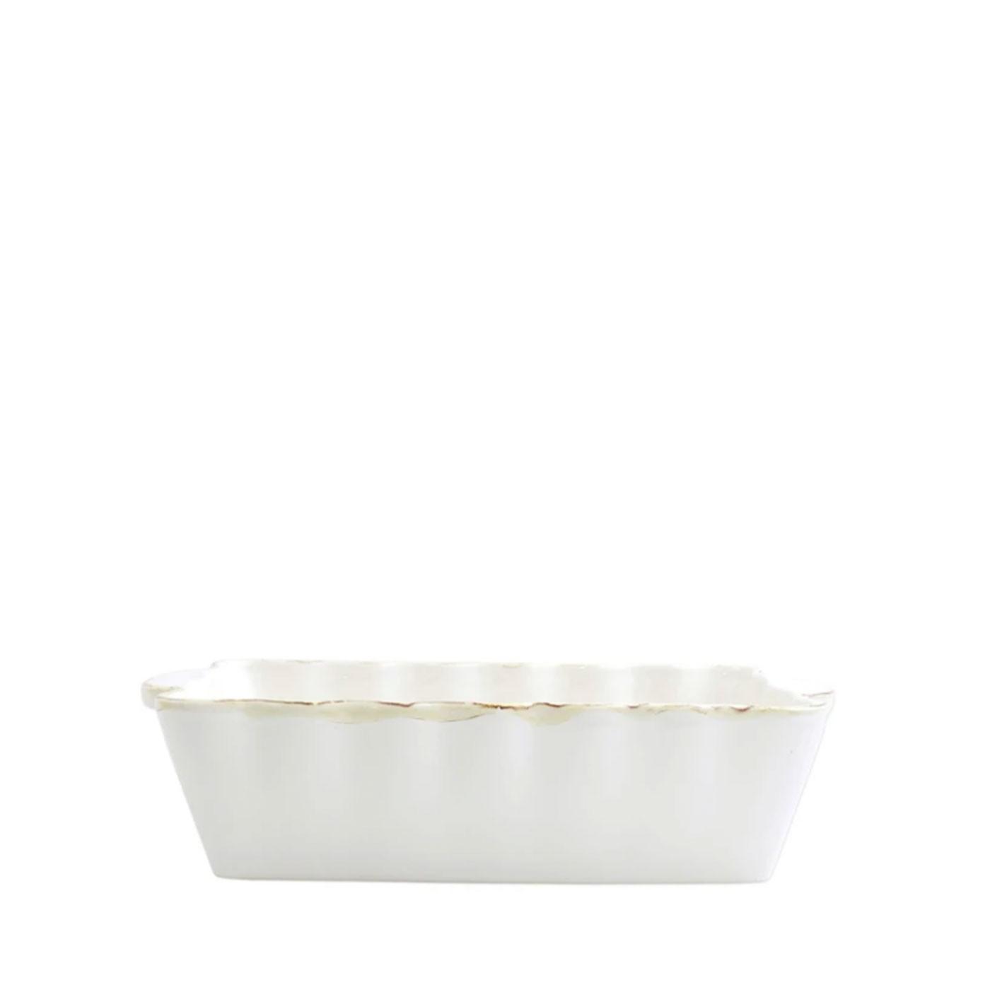 Italian Bakers White Medium Rectangular Baker