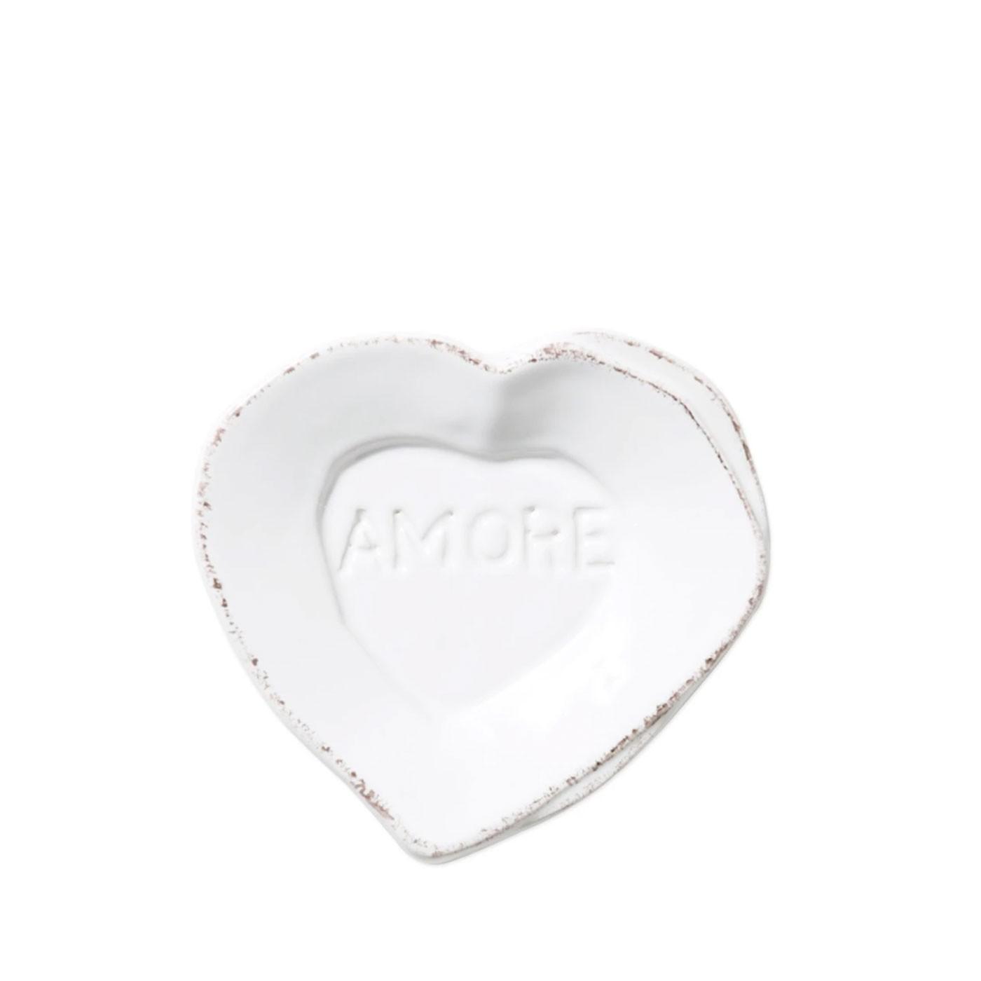 Lastra White Heart Mini Amore Plate - Vietri | Eataly.com