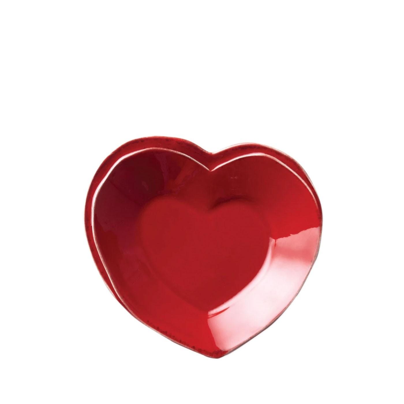 Lastra Red Heart Dish - Vietri   Eataly.com