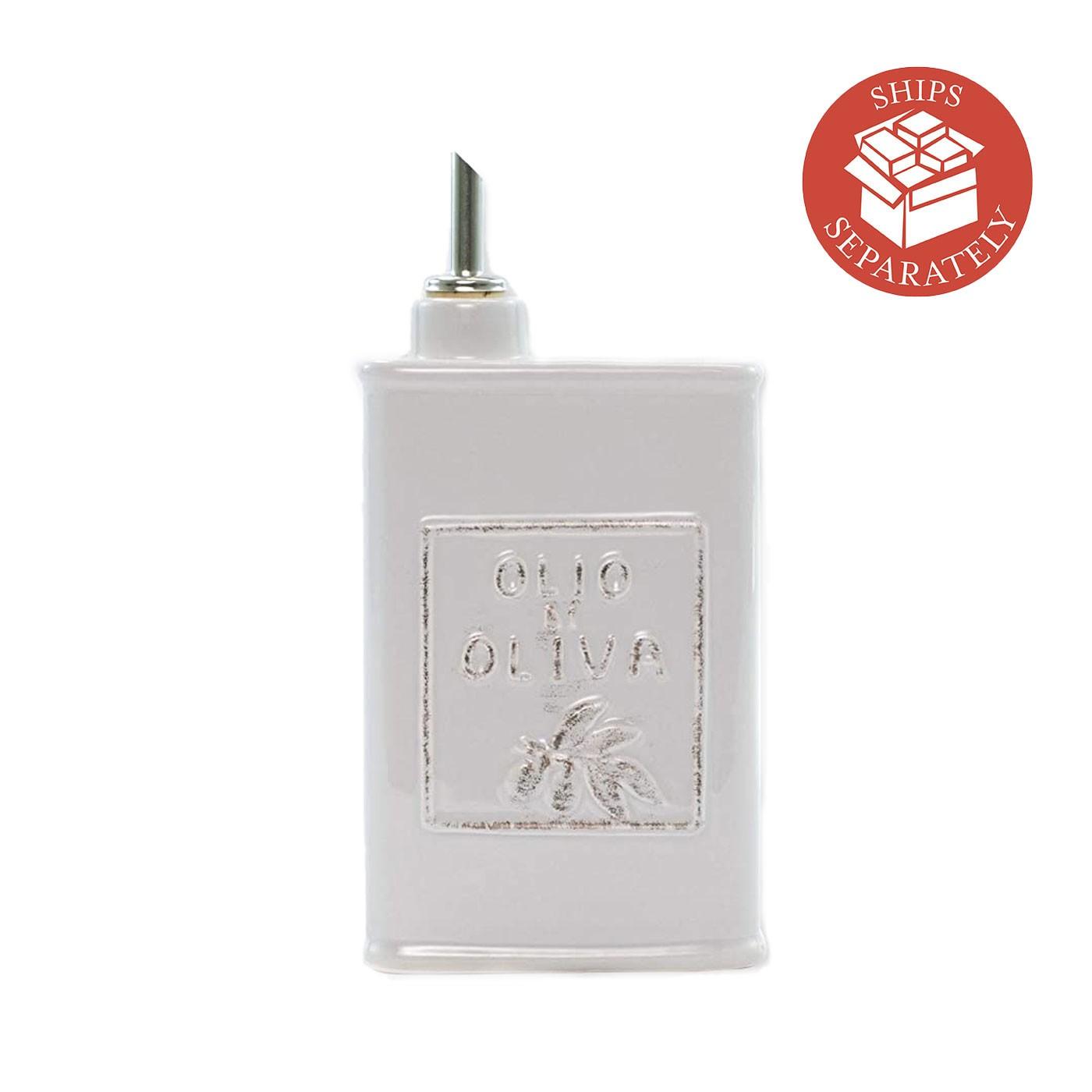 Italian Lastra Light Gray Olive Oil Can - Vietri | Eataly.com