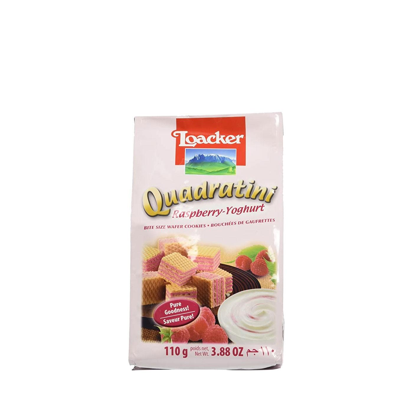 Raspberry and Yogurt Quadratini 7.7 oz