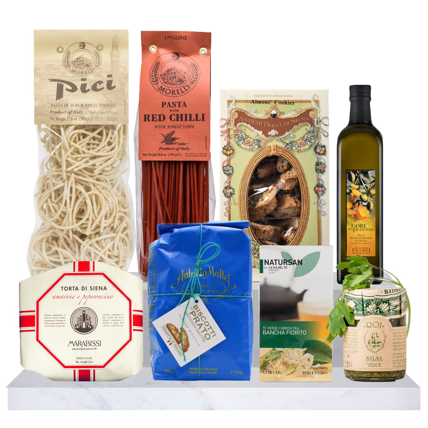 Tuscan food gift basket