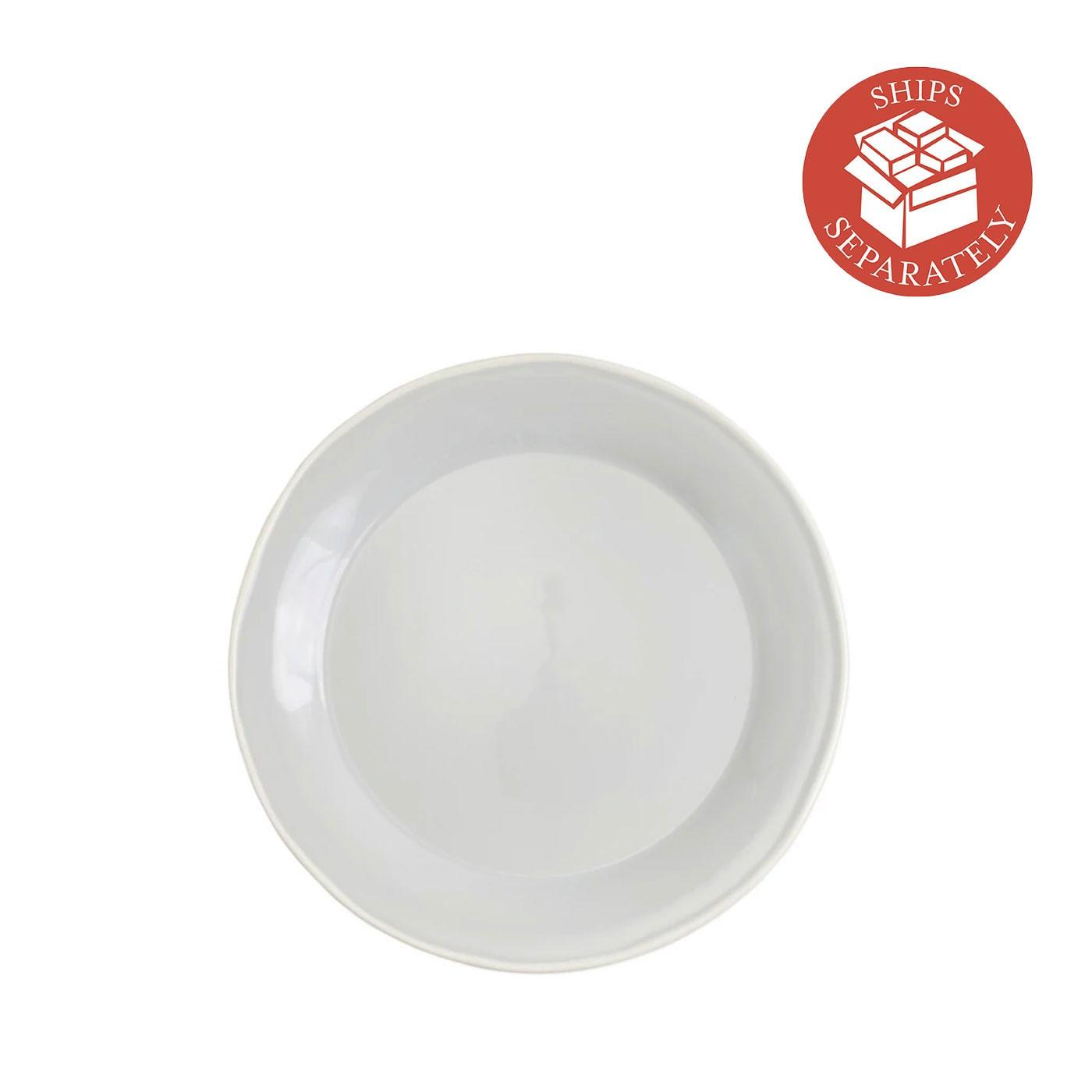 Chroma Light Gray Dinner Plate - Vietri | Eataly.com