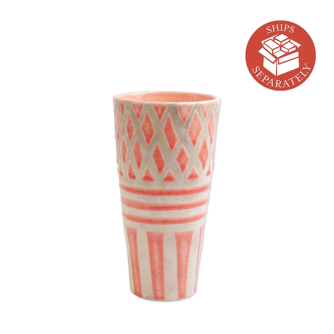 Garden Geo Coral Tall Vase - Vietri | Eataly.com