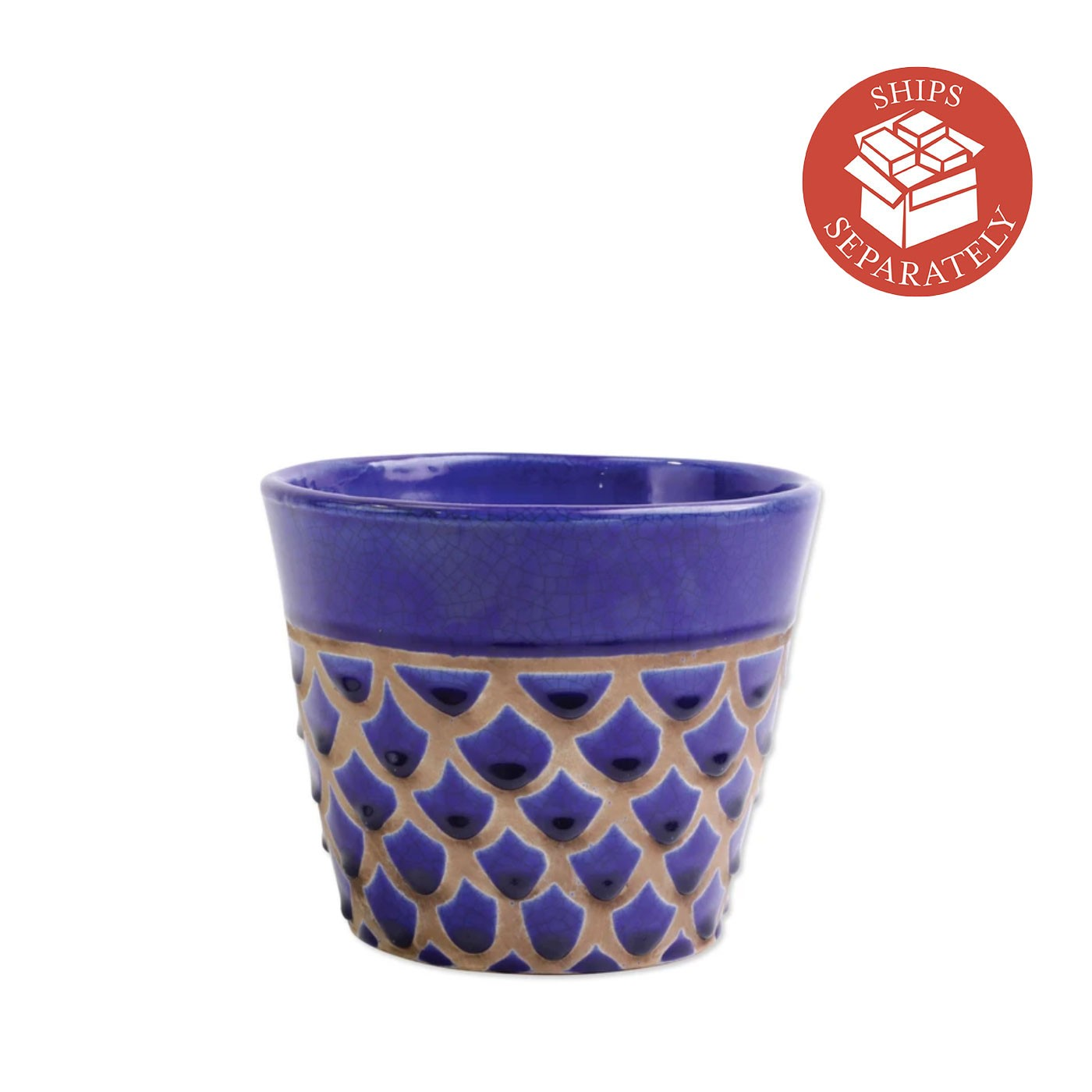 Garden Geo Cobalt Medium Cachepot - Vietri | Eataly.com
