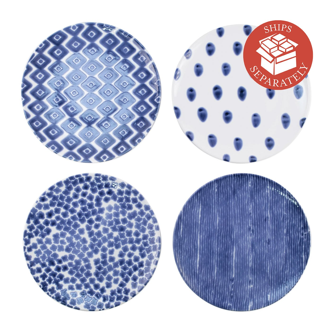Santorini Assorted Dinner Plates - Set of 4 - Vietri | Eataly.com