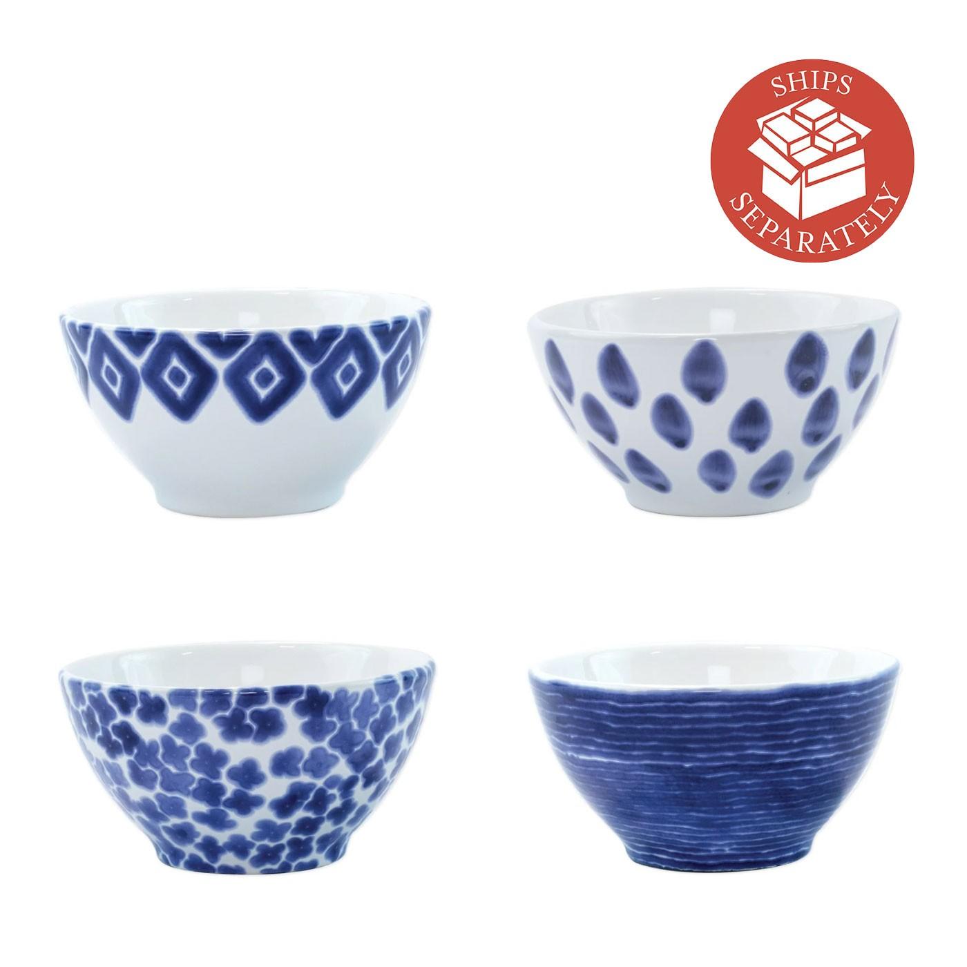 Santorini Assorted Cereal Bowls - Set of 4 - Vietri | Eataly.com