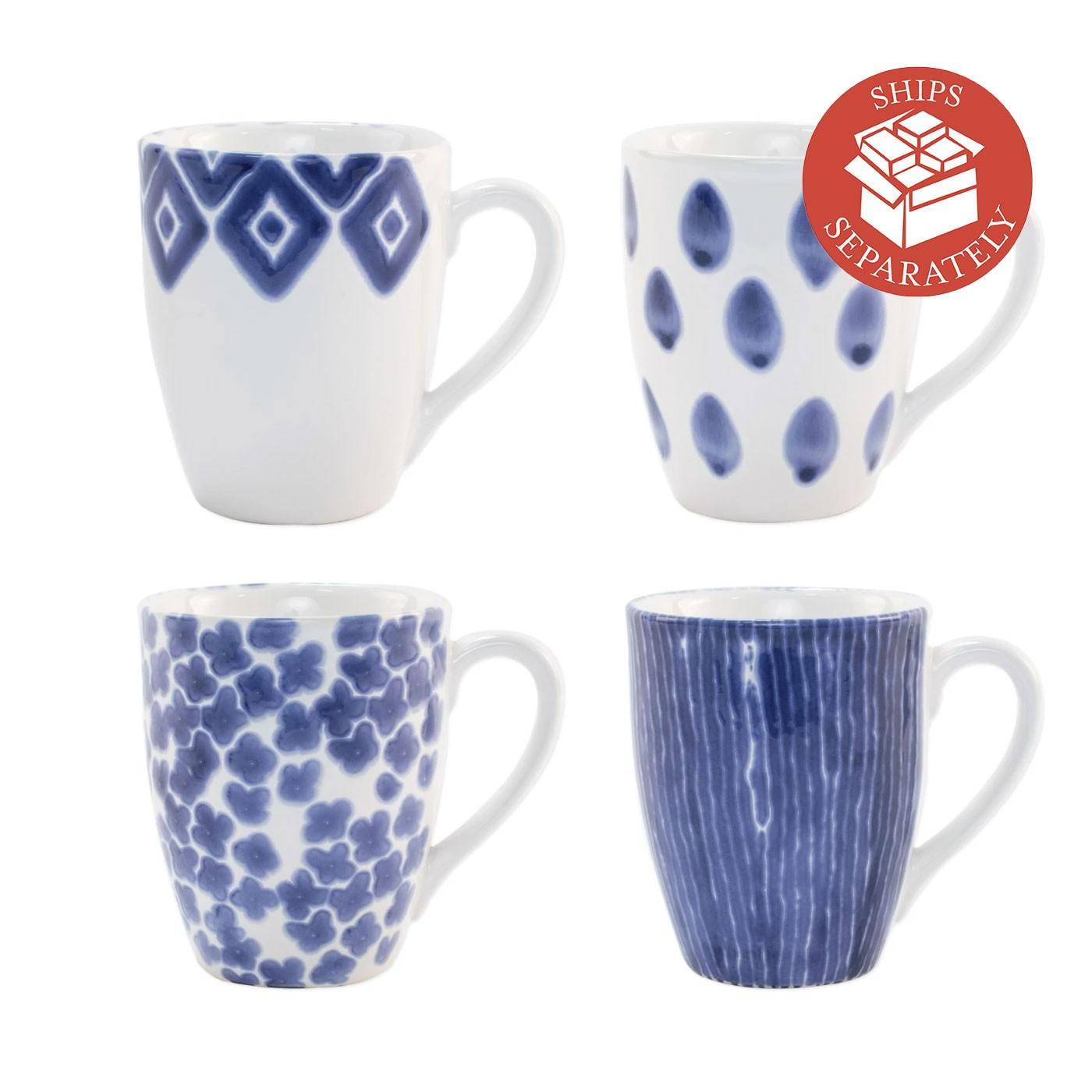 Santorini Assorted Mugs - Set of 4 - Vietri | Eataly.com