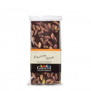 Dark Chocolate Bar with Pistachios 3.5 oz