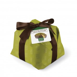 Pistachio Panettone with Dark Chocolate
