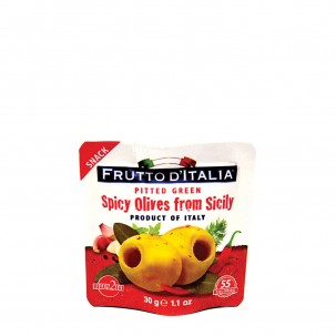 Snack Spicy Olives, 1.1 oz