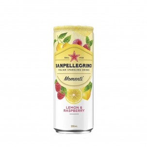 Momenti Lemon and Raspberry Sparkling Soda 11 oz