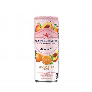 Momenti Clementine and Peach Sparkling Soda 11 oz