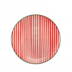 Mistletoe Stripe Salad Plate