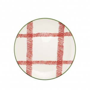 Mistletoe Plaid Salad Plate