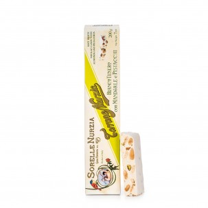 Soft White Torrone with Pistachios and Almonds 7.1 oz