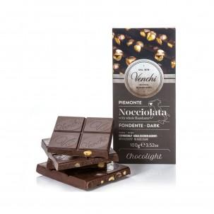 Dark Chocolate and Hazelnuts Bar 3.5 Oz