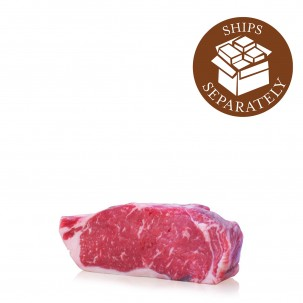 Prime Black Angus Boneless NY Strip Steak Two Steaks, 16 oz each