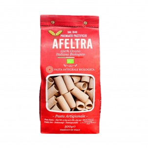 Organic Wholewheat Rigatoni 17.6 oz - Afeltra