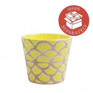 Garden Geo Yellow Small Cachepot - Vietri | Eataly.com