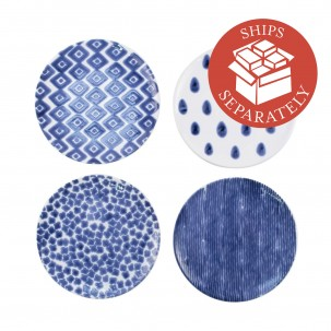 Santorini Assorted Salad Plates - Set of 4 - Vietri | Eataly.com