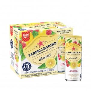 Momenti Lemon and Raspberry Sparkling Soda 11 oz - Case of 6