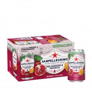 Pomegranate and Orange Sparkling Soda 11 oz - Case of 6