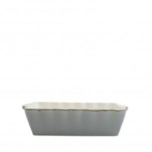 Italian Bakers Gray Medium Rectangular Baker