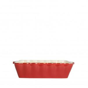 Italian Bakers Red Medium Rectangular Baker