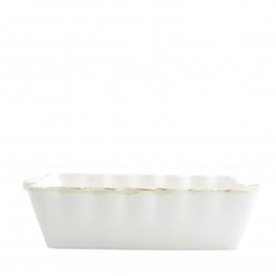Italian Bakers White Large Rectangular Baker