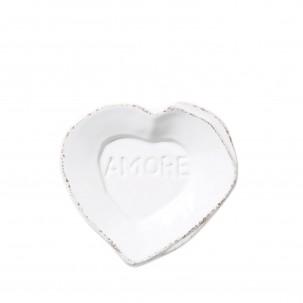 Lastra White Heart Mini Amore Plate - Vietri   Eataly.com