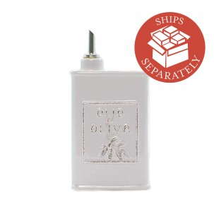 Italian Lastra Light Gray Olive Oil Can - Vietri | Eataly.com