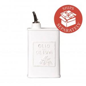 Italian Lastra White Olive Oil Can - Vietri | Eataly.com
