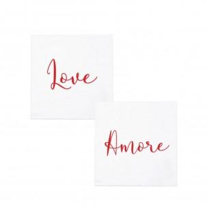 Papersoft Love/Amore Cocktail Napkins - Vietri | Eataly.com